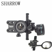 1pc Black Single Pin Single Needle Sight Aluminum Adjustable Pointer Outdoor For Bow Accessories