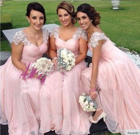 4354aebe1e 2018 lace Wedding Bridesmaid Dresses Ever Pretty Fashion Women Flower  Shoulder Chiffon Padded Long Bridesmaid Dress Plus size