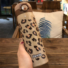 RUIDA New Design Stainless Steel Vacuum Flasks Thermos Cup Coffee Tea Milk Travel Mug Thermo Bottle Gifts Thermocup Leopard cup