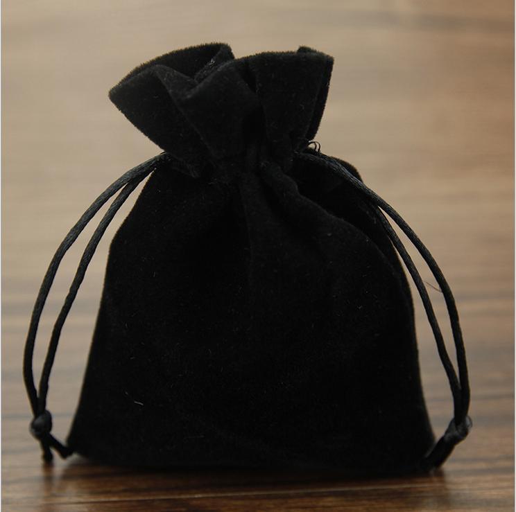 25 50 100 X Black Velvet Drawstring Jewelry Gift Bags Pouches New