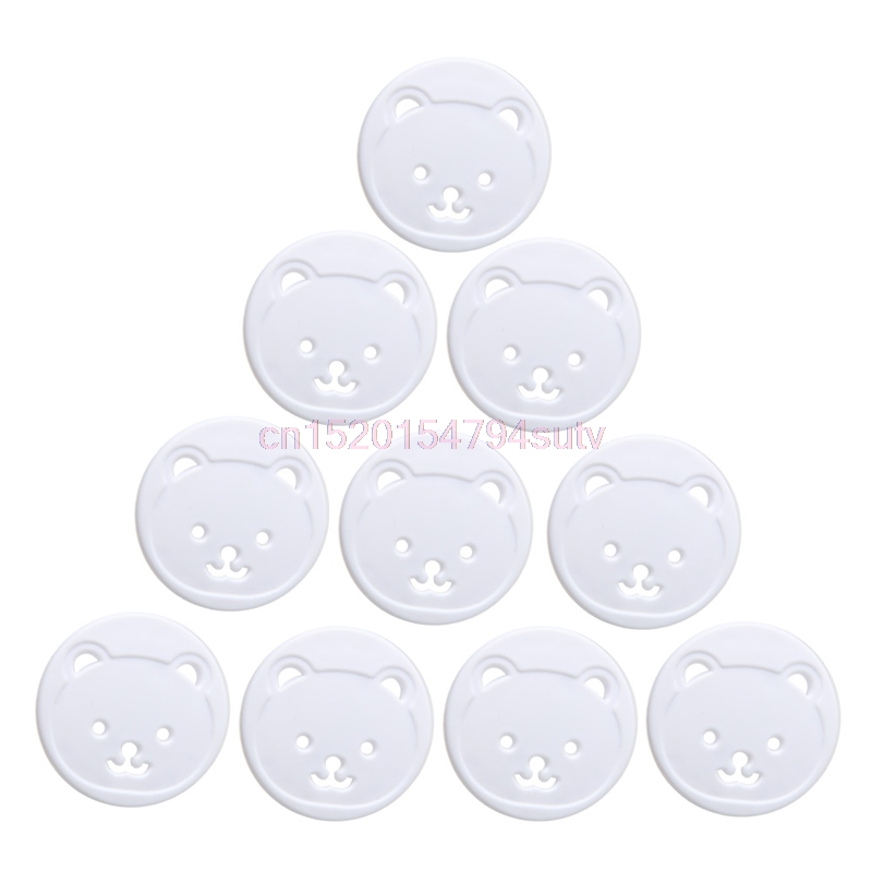 10X Power Kid Socket Cover Baby Child Protector Guard Mains Point Plug Bear New H055