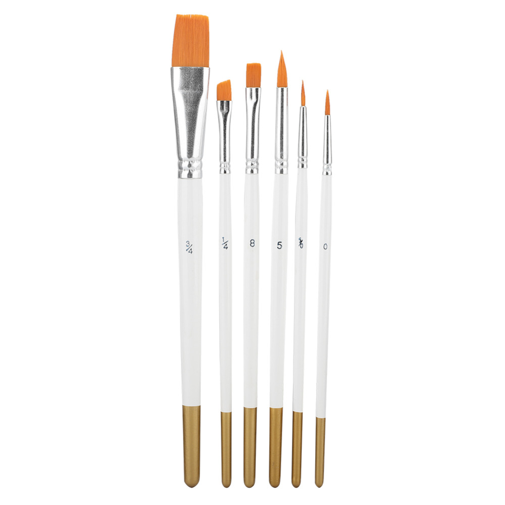 6PCS/Set Watercolor Painting Brush Gouache Pen Nylon Hair Painting Brush Set Art Painting Brush