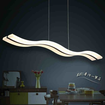 Creative Modern Acrylic Wavy LED Dining Chandelier Restaurant bedroom study aisle chandelier Commercial place Lighting fixture