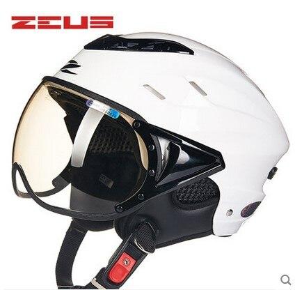 Free shipping, zeus125B motorcycle helmet scooter helmet, summer open face 1/2 motorcross motor bike helm, Casco Capacete