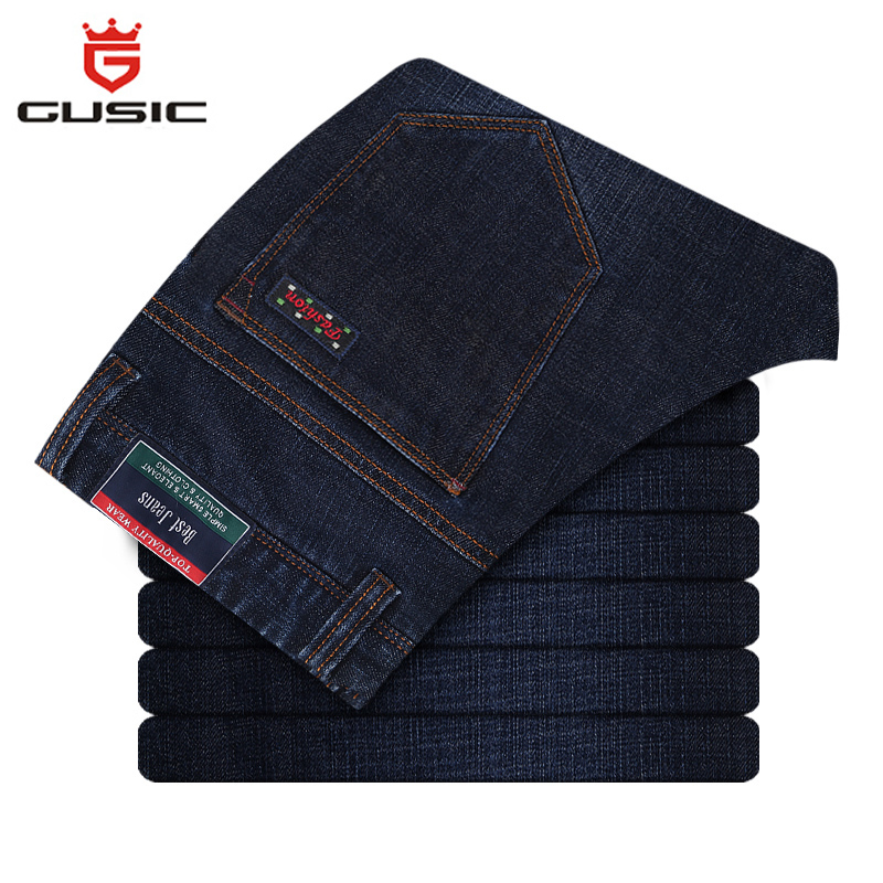 Fashion Jeans Slim Homme Winter Mens Slim Fit Jeans Brand Gusic Denim Jeans New Design Big Size Men Skinny Jeans Pants 5637W полка new brand 3pcs 20 30 slim fit ts079