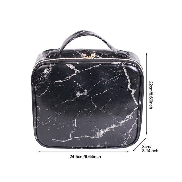 Marble Patterned Makeup Travel Organizer