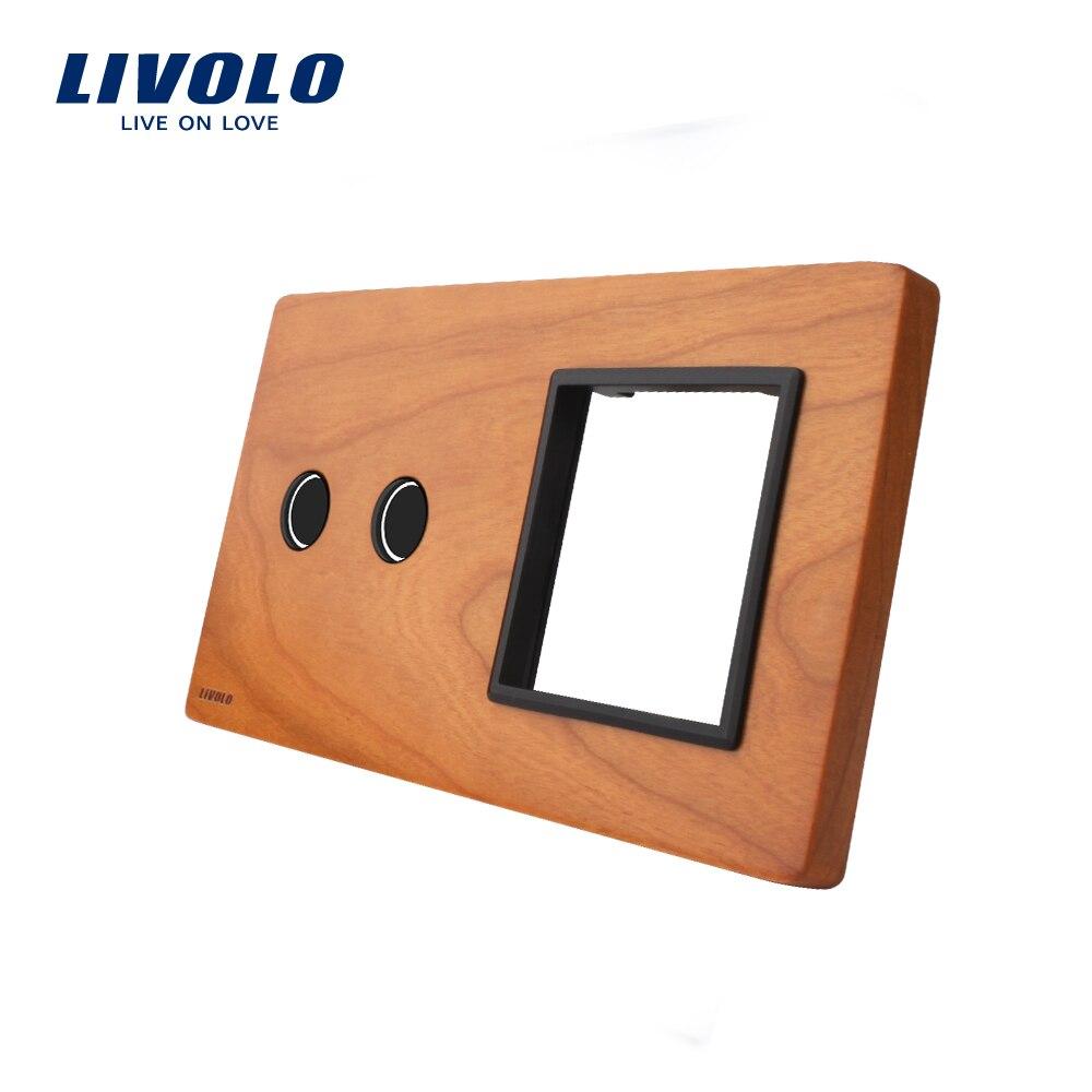Free Shipping, Livolo Cherry Wood panel , 151mm*80mm, EU standard, 2Gang &1 Frame Wood Panel, VL-C7-C2/SR-21 акустика центрального канала vandersteen vcc 2 cherry