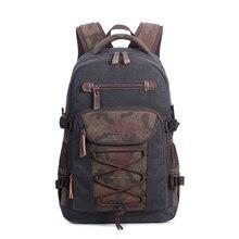 Купить с кэшбэком  Canvas Backpack Mens USB Charge Laptop Shoulder Bag Casual Camouflage Knapsack For Travel Bags