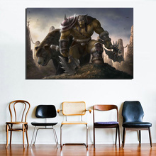 World Of Warcraftes Orc Art Canvas Painting Prints Living Room Home Decor Modern Wall HD Art Painting Posters Pictures Framework