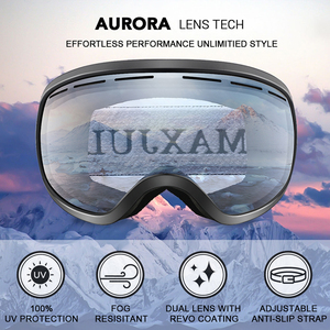 Image 2 - Kayak gözlüğü, kış kar sporları anti sis ile çift Lens kayak maskesi gözlük kayak erkek kadın kar gözlüğü M3