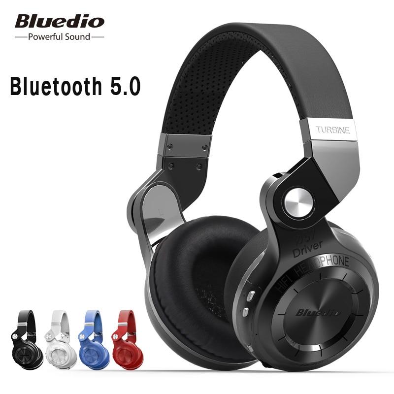 Original Bluedio T2S Bluetooth Headphones With Microphone Wireless Headset Bluetooth Fodable For Iphone Samsung Xiaomi Headphone