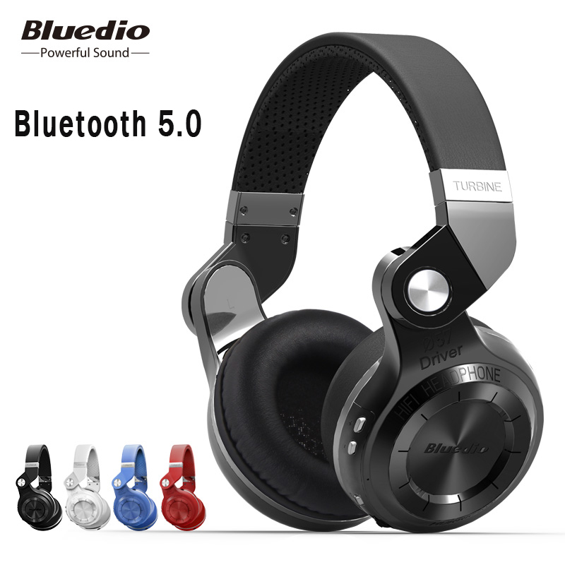 Casque Bluetooth d'origine Bluedio T2S avec microphone sans fil Bluetooth pour casque Iphone Samsung Xiaomi