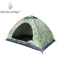 Adriana 2 3 Person 1.4KG Camel Tent Ultralight Single Layer Water Resistance Camping Tent PU1500mm with Carry Bag for Hiking