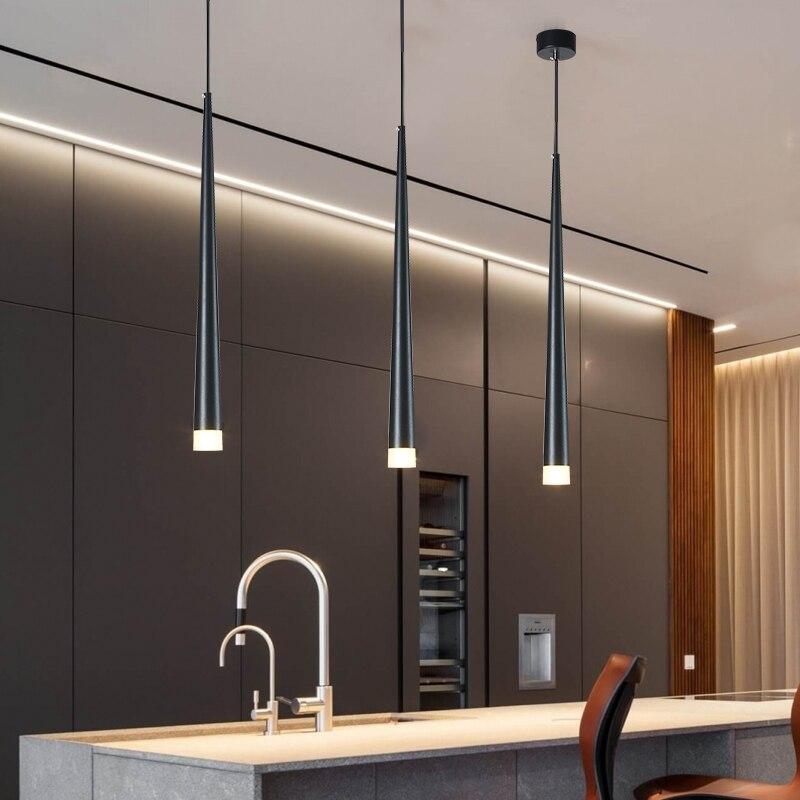 Nordic led lampadario a bracci lunghi da incasso Cucina Ristorante Bar cono lampadario lampadario decorativo comodino Lampadario