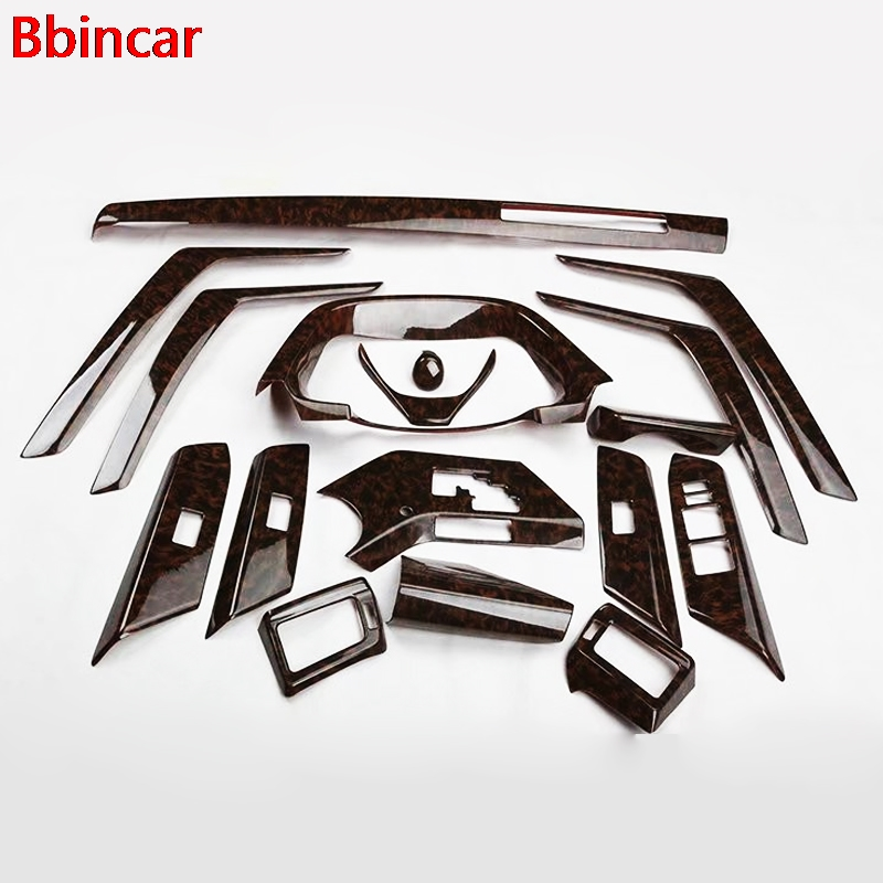 Bbincar 17PCS ABS Carbon Fiber Paint Front Dash Board Air Vent Panel Inner Door Interior Accessories For Toyota RAV4 <font><b>RAV</b></font> <font><b>4</b></font> <font><b>2014</b></font> image