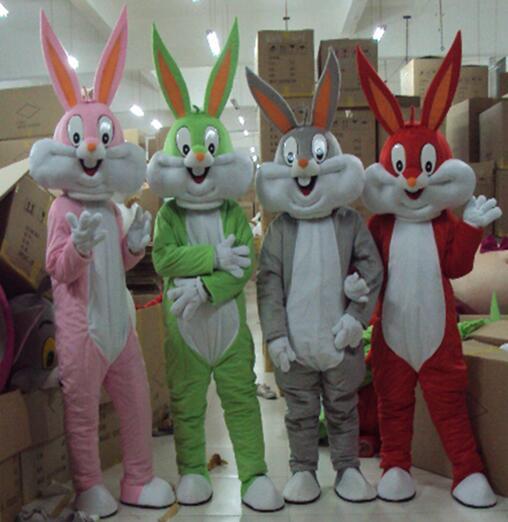 New Bugs Bunny Cartoon Mascot Adult Costume Cosplay Costumes Free Shipping