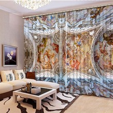 New High grade 3D Printing Curtains High Quality HD Blackout Curtains Bedding Room Living Room Sunshade