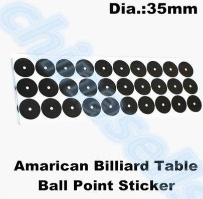 35mm 30pcs point snooker pool billiard white ball locator sticker cue ball locators stickers Table Ball Point Sticker