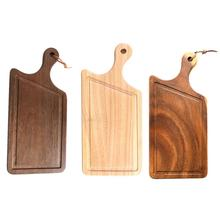 Wooden Chopping Board Tray Irregular Household Plate for Fruit Bread Cheese Pizza