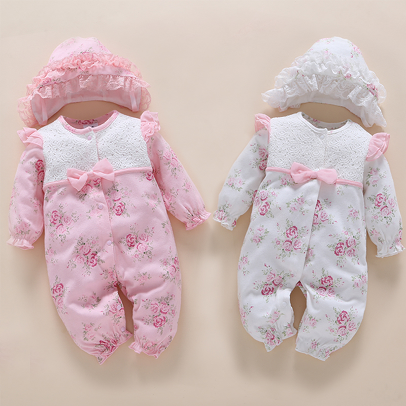 Baby girl romper 2017 spring autumn high quality princess outift cotton infant clothing set roupas bebe new born baby clothes free shipping new 2017 spring autumn baby clothing infant set gift baby jumpsuits newborn romper 4pcs set 2pcs romper hat bib
