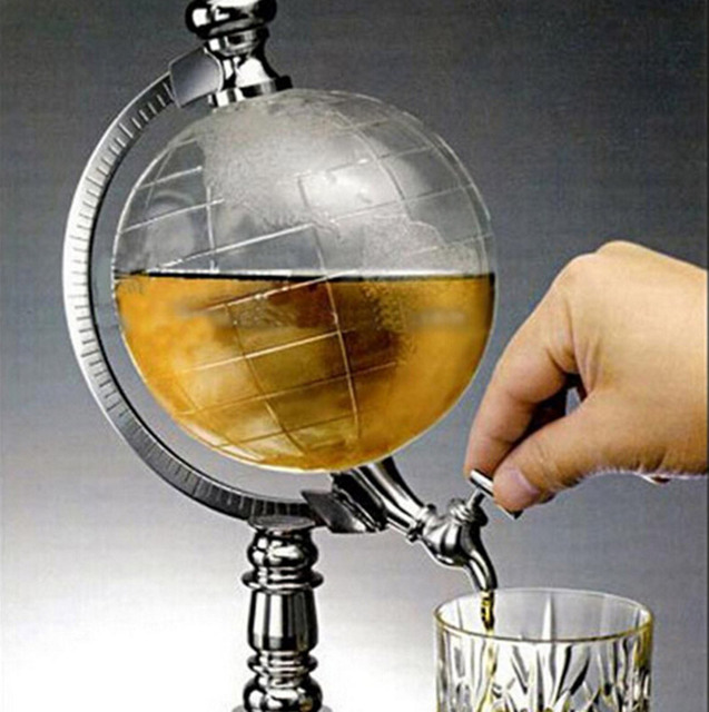 1000cc Creative Globe wine divider pouring tools green tea bar party decoration beer barrels bar tools