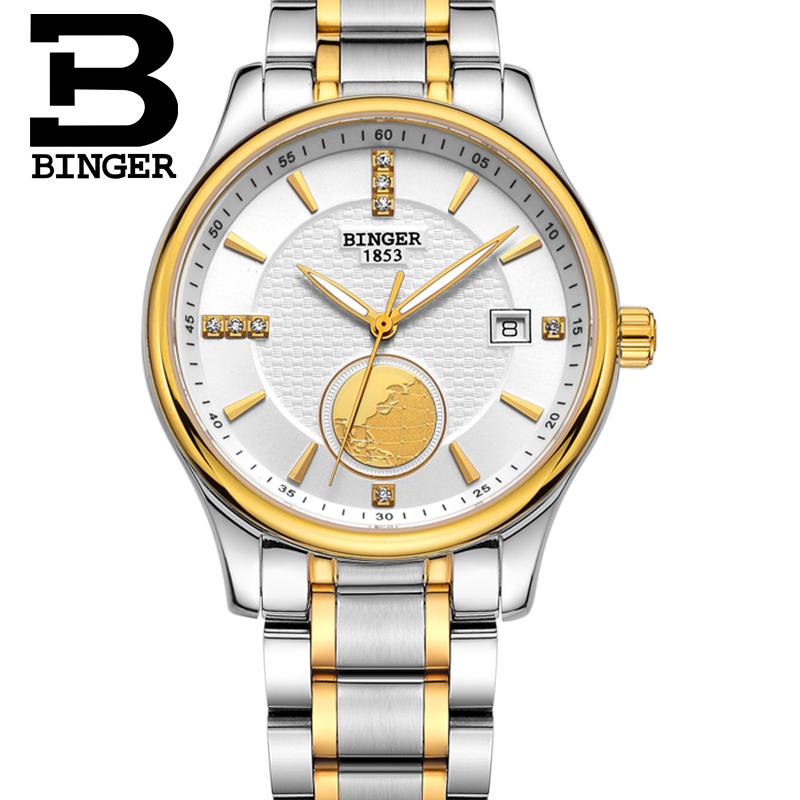 nueva marca de relojes de lujo binger suizo reloj para los hombres de negocios mecnico