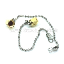 JX(JX) 1PCS SMA plug SMA Dummy load gold-plated terminal chain stopper stainless steel dust cap 50 ohms