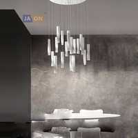 LED Nordic Iron Acrylic Black White Spiral LED Lamp LED Light.Pendant Lights.Pendant Lamp.Pendant light For Dinning Room