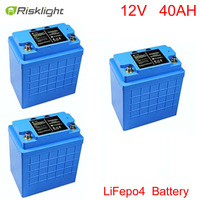 12V 40Ah LiFePO4 battery pack for electric bicycle, motorcycle batteries, electrical equipment