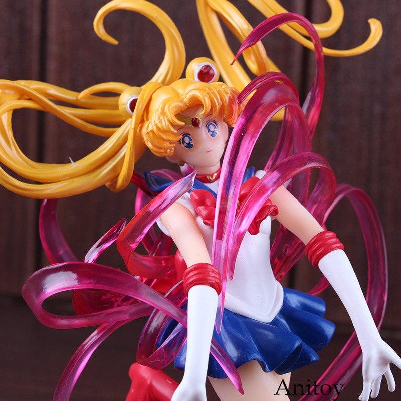 Figuarts Zero Petit-Chara! Pretty Guardian Sailor Moon Tsukino Usagi PVC Sailor Moon Figure Collectible Model Toys shf s h figuarts sailor moon black lady pvc action figure collectible model toy