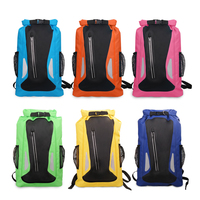 Outdoor River Trekking Bag Dry Sack Bag Double Shoulder Straps Water Pack Swimming Backpack Waterproof Bag for Drifting Kayaking