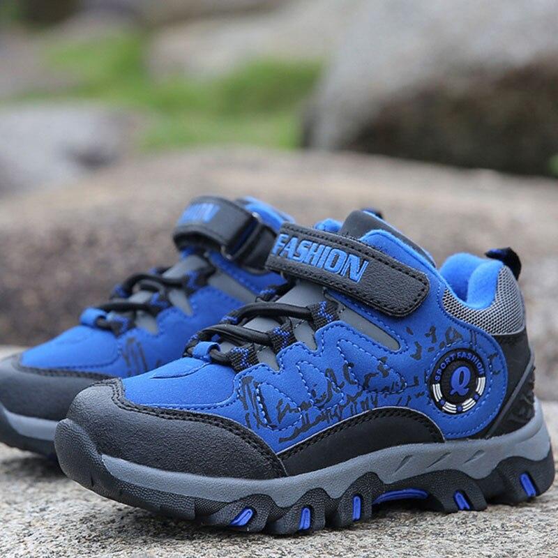 Дети Спорт на открытом воздухе Спортивная обувь дети анти-слип горный Треккинговые ботинки зимние Трекинговые Сапоги и ботинки для девочек... ...