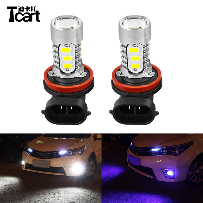 Tcart Car H11 Led Fog Light Bulbs Auto Driving Lamps For Toyota Corolla 2008 2015 2016 2017 Accessories