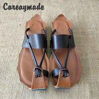 Hot 2015 New Genuine Leather Pure Handmade Zen Art Retro Sandals The Retro Art Mori Girl