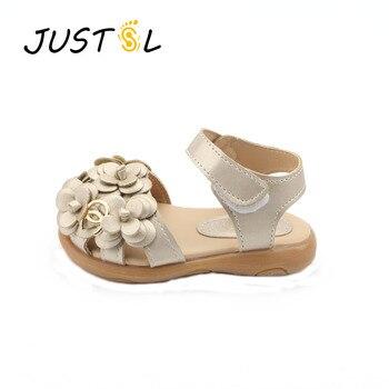 JUSTSL Bambini scarpe Ragazze 2017 Nuova Estate del Bambino Femminile Sandali Delle Ragazze di Fiore PVC Principessa Delle Neonate Scarpe sandali di modo
