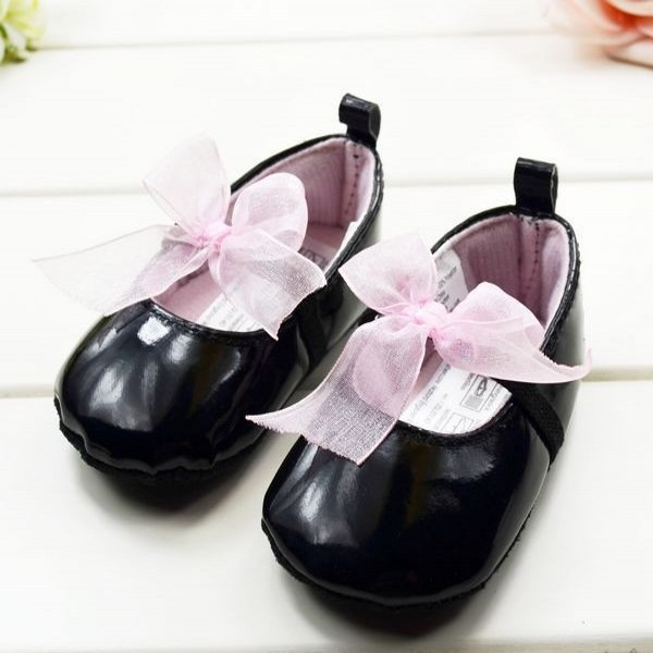 Cute Baby Girls Infant Crib Shoes Bowknot Lace Soft Sole Prewalker Toddler Shoes