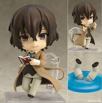 NEW hot 10cm Bungo Stray Dogs Stray Dogs Dazai Osamu Nendoroid Mini Action figure toys collection doll with box