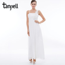 Tanpell white long evening dress spaghetti strap appliques Ankle-Length  sleeveless lace A-Line dress women prom evening dresses 2138a656b377