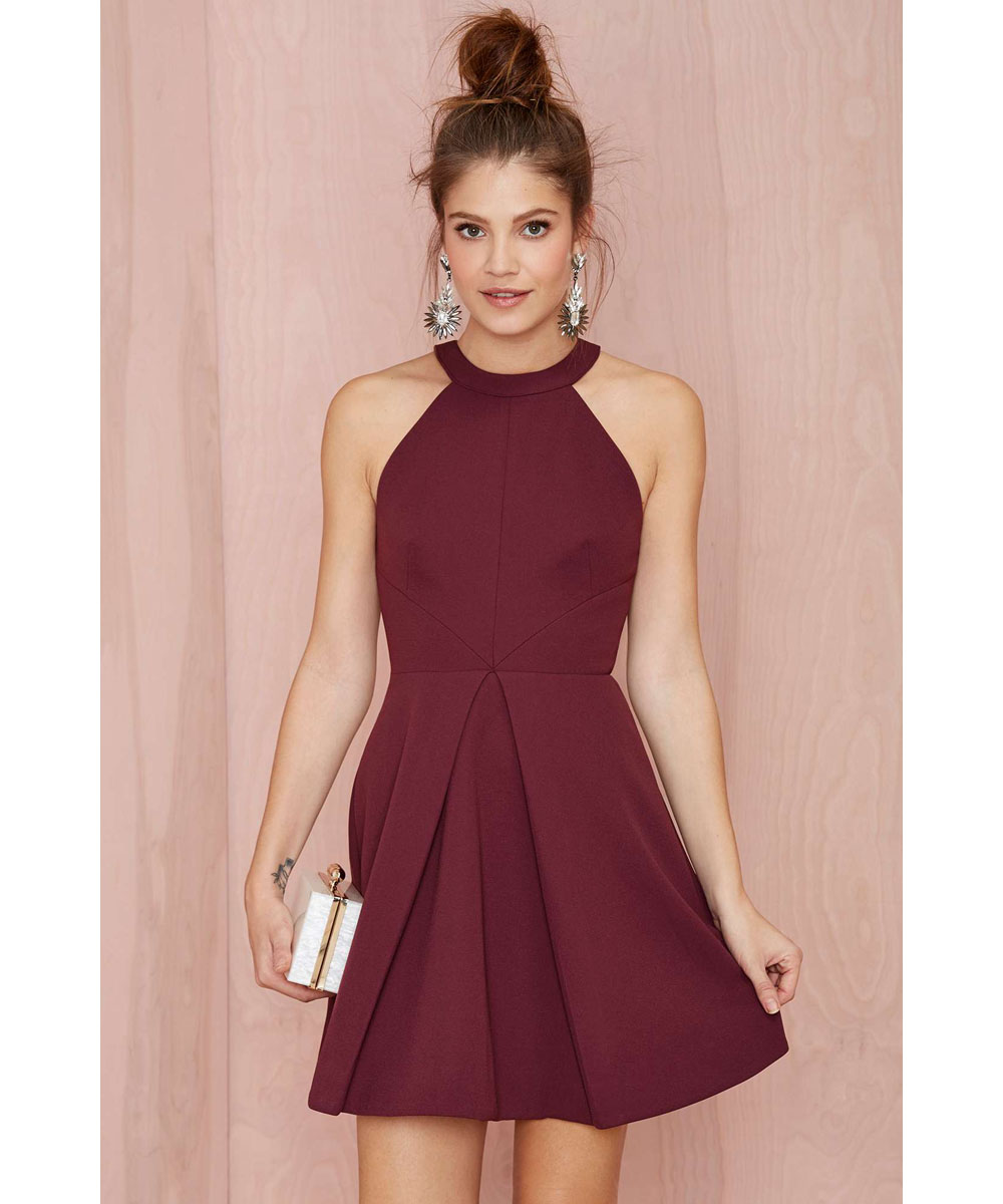 Aliexpress.com : Buy Burgundy Party Dresses Mini Cocktail Dresses ...