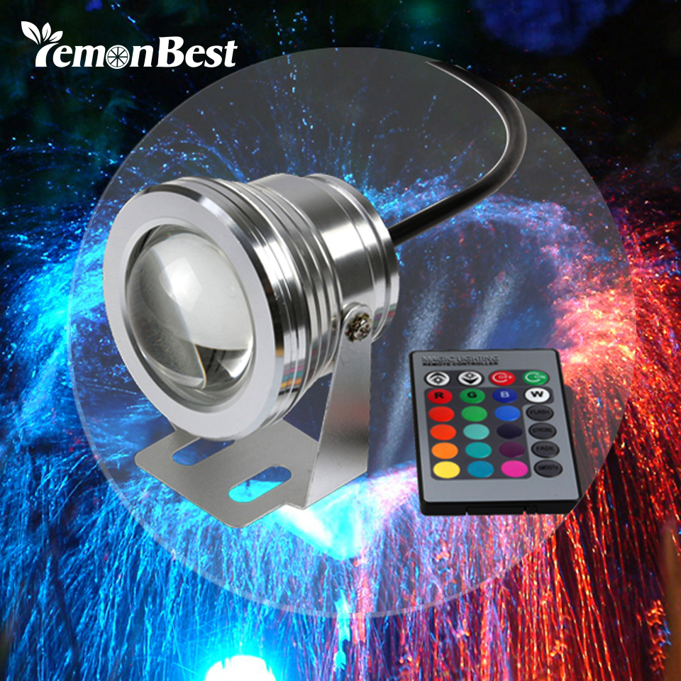10w 12v Underwater Rgb Led Light 1000lm Waterproof Ip65