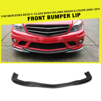 Carbon Fiber / FRP Auto Front Bumper Lip Spoiler for Mercedes Benz W204 C63 AMG Sedan C204 Coupe 2008 2011 Car Styling