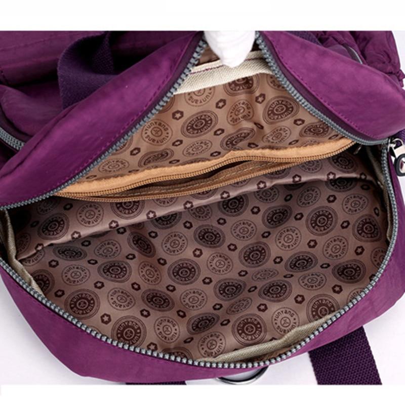 Image 5 - New Women Backpack Multifunction Waterproof Nylon Lady Women Backpacks Female Casual Travel bag Bags mochila feminina u s b-in Backpacks from Luggage & Bags
