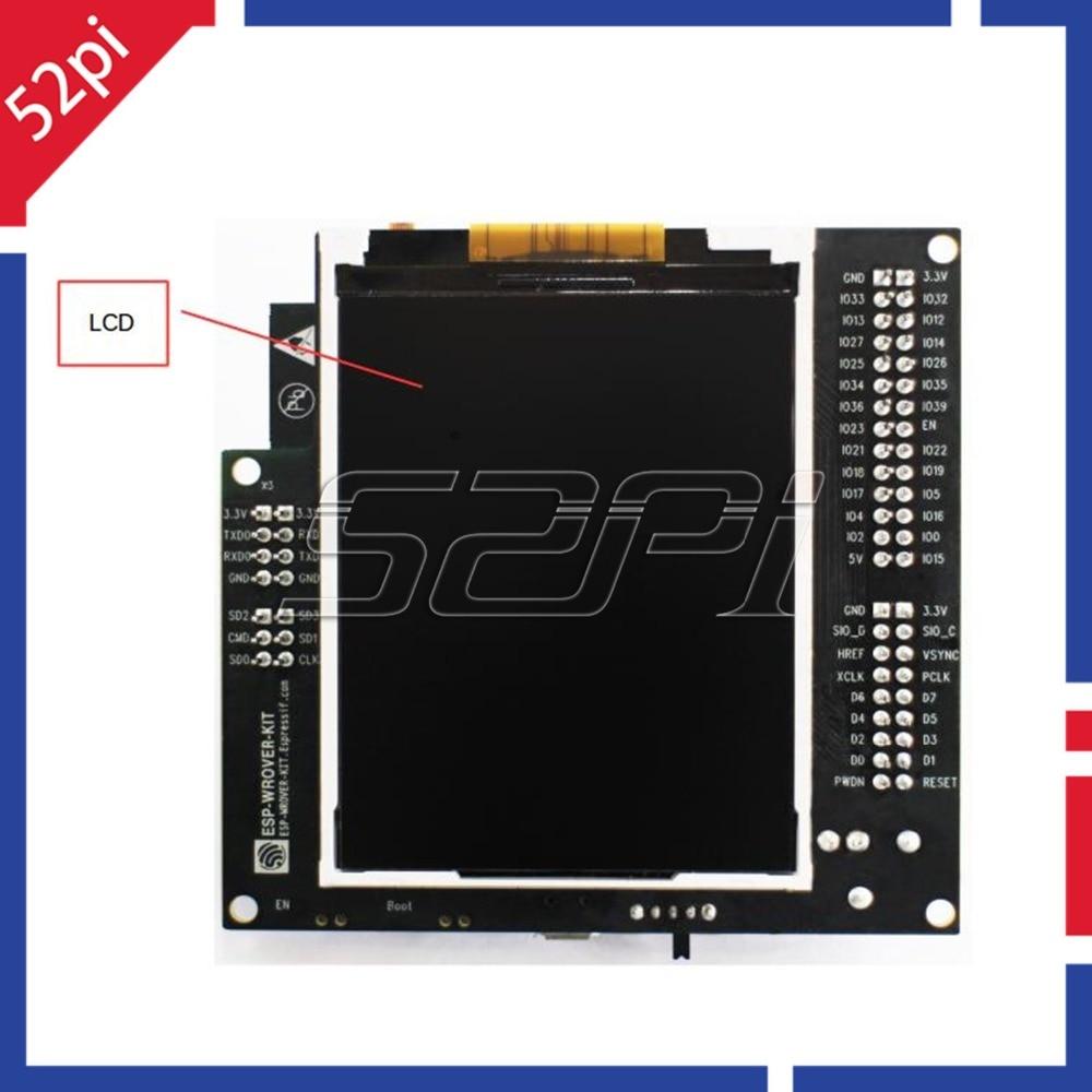 52Pi ESP-WROVER-KIT carte de développement ESP32 avec WiFi sans fil Bluetooth et écran LCD 3.2 pouces