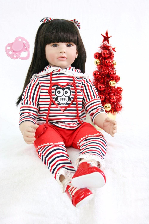 60cm Silicone Reborn Baby Doll Toy 24 Vinyl Princess Toddler Alive Bebe Doll Child Birthday Gift Girl Babies Boneca Brinquedo60cm Silicone Reborn Baby Doll Toy 24 Vinyl Princess Toddler Alive Bebe Doll Child Birthday Gift Girl Babies Boneca Brinquedo