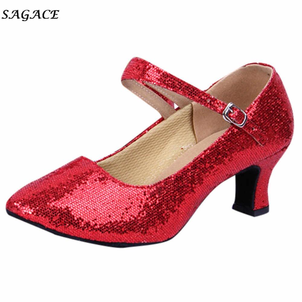 """Sagace 2018 Người Phụ Nữ Zapatos Mujer """"Mùa Hè Mới Mũi Nhọn Bóng Gót Giày Nữ Khóa Dây Mỏng Cao Gót giày"""
