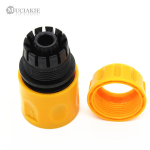 Image 5 - MUCIAKIE 3PCS Coupling Adapter Drip Tape Watering Irrigation Faucet Hose Connecter with 1/2 3/4 Male Garden Water Connector