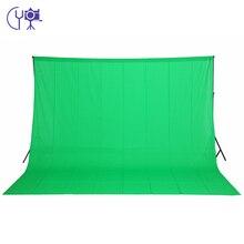 CY новые фотографии оборудования 3 м x 4 м 100% хлопок Chromakey Зеленый Экран муслин Задний план фон для фотостудии Backdrops