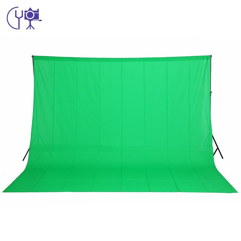 CY nouveau matériel de photographie 3 m x 4 m 100% coton Chromakey écran vert fond de mousseline toile de fond pour décors de studio de photo