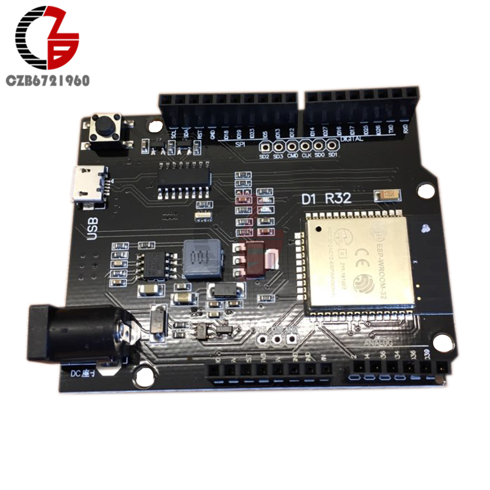 DC 5V 12V WEMOS D1 Mini R32 ESP32 Wireless Wifi Bluetooth Development Board Antenna Micro USB CH340 CH340G 4M for Arduino UNO R3 50pcs ch340g ch340 sop 16 new original