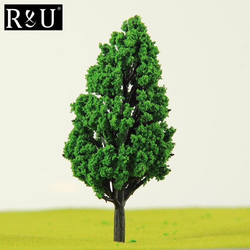 10pcs 12cm Trees Model Garden Wargame Train Railway Architectural Scenery Layout